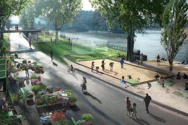 Le projet d'aménagement de la rive droite de la Seine, à Paris.