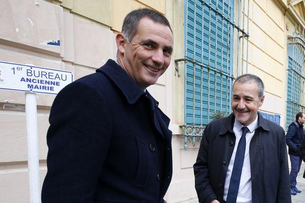 03/12/2017 - Gilles Simeoni et Jean-Guy Talamoni forment la coalition nationaliste de la majorité sortante.