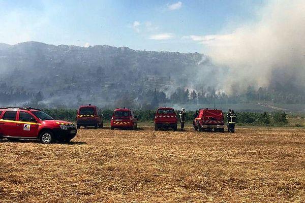 Montséret (Aude) - feu accidentel, 80 hectares de végétation partis en fumée - 25 juillet 2017.