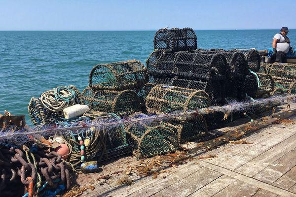 23 juillet 2019: les premiers déchets remontés de la mer au large des côtes de la Seine-Maritime.