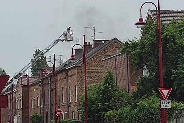 Une intervention des pompiers à Trith-Saint-Léger, le 4 juillet.