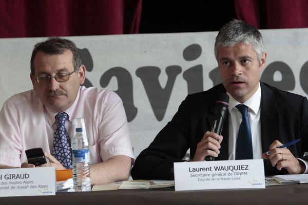 Joel Giraud et Laurent Wauquiez en juin 2013.