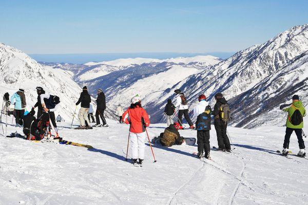 Sur les pistes de ski de Porté-Puymorens, l'une des des six stations de sports d'hiver des Pyrénées-Orientales, avant la crise du Covid-19.