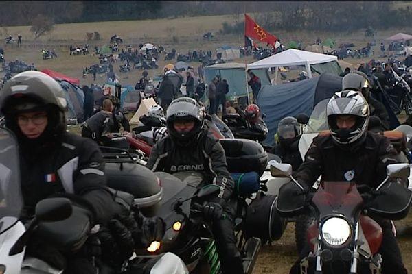Les Millevaches, rassemblement emblématique du moto club de Meymac, réuni chaque mois de décembre des milliers de motards (photo édition 2018)