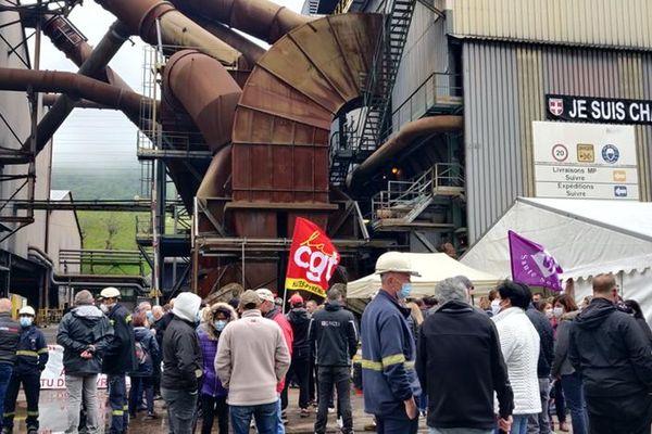 Une manifestation avait eu lieu à l'usine de Château-Feuillet, en Savoie, le 1er mai dernier, contre le plan de restructuration de Ferropem.