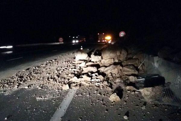 Un éboulement s'est produit sur l'autoroute A8 ce jeudi matin.