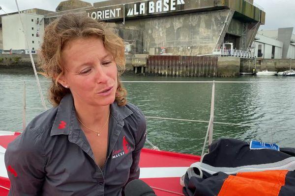 Isabelle Joshcke à Lorient, septembre 2021