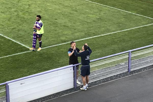 Vincent Etcheto et Pierre Sagot, les entraîneurs du SA XV