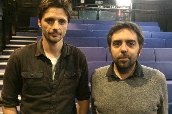 Raphaël Personnaz, comédien et Benjamin Guillard, metteur en scène