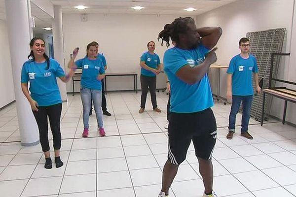 Séance sportive au Centre européen d'étude du diabète. Pour lutter contre le diabète, il faut travailler son triceps: une découverte strasbourgeoise et mondiale