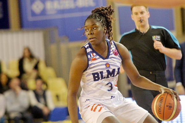 Lattes Montpellier,emmené par Ornella Bankole, a disputé le match aller de la finale de l'Eurocoupe à Orenbourg, en Russie. (image d'illustration)