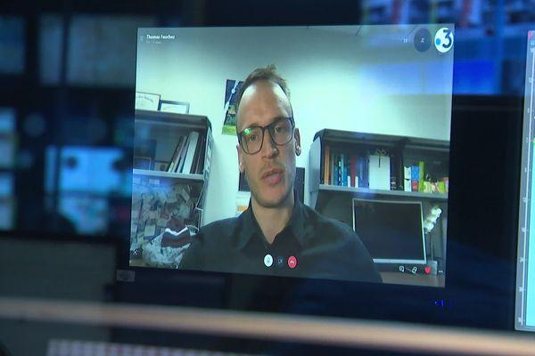 Thomas Fauchez, lors d'un entretien pour France 3, le 22 janvier 2020.