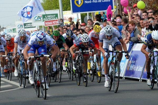 Arnaud Demare, vainqueur à Courrières, ce mercredi après-midi.