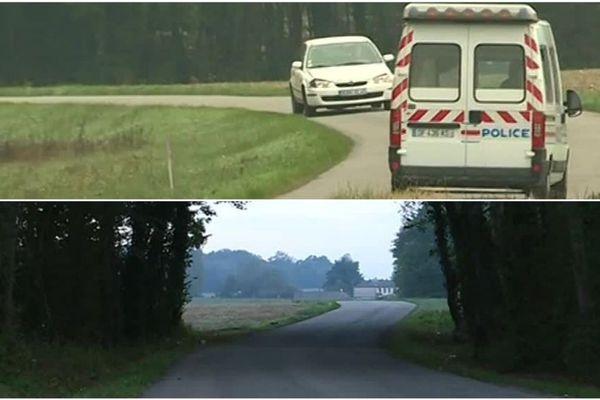 C'est sur cette route de campagne, à Pannes, dans l'Est du Loiret que le corps de Karine Foucher a été retrouvé par des promeneurs. Le corps de son patient, Jacques Samson, a été retrouvé à seulement quelques kilomètres de là, à Châlette-sur-Loing.