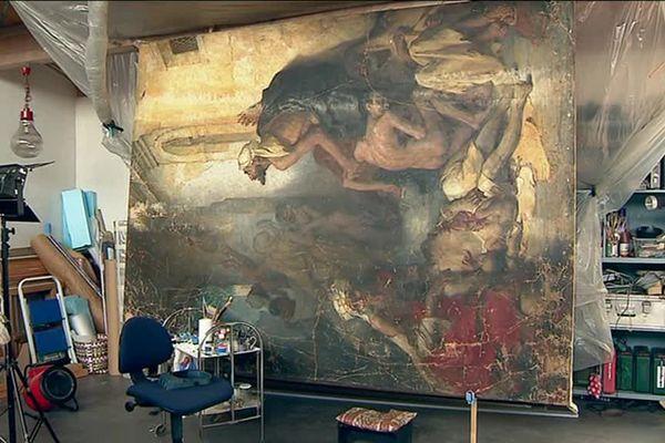 Pascale Brenelli, restauratrice d'art avait déjà restauré le célèbre tableau Le Grand siège de La Rochelle