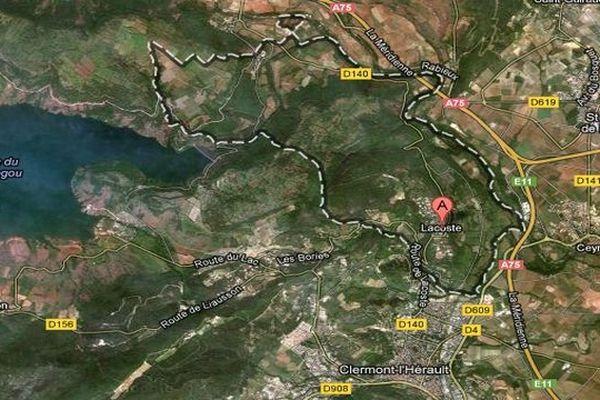 Google map - Lacoste (Hérault)