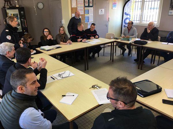 Visite de la commission de sécurité au stade de la Colombière