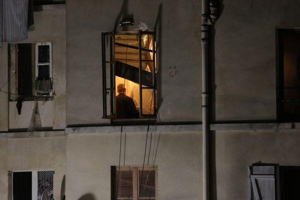 L'immeuble visé par l'assaut du Raid, à Saint-Denis, en novembre 2015.