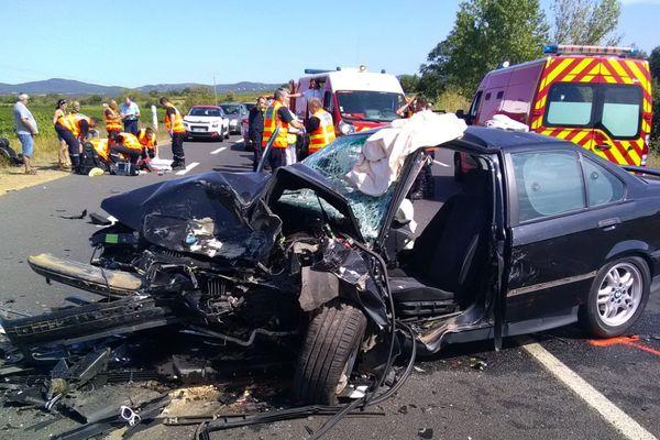 L'accident s'est produit en fin de matinée, sur la RD909 à hauteur d'Autignac