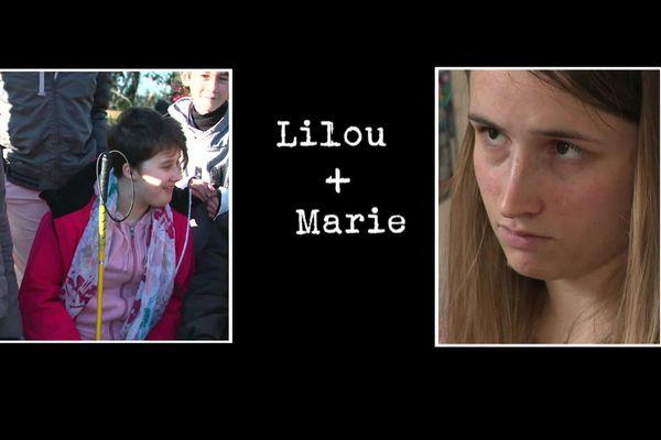 Lilou a 12 ans bientôt 13. Elle est malvoyante et autiste. Marie a 22 ans et souffre de retard psychique. Mais toutes deux, aidées par leur famille, se donnent à fond pour avancer dans la vie et gagner en autonomie.