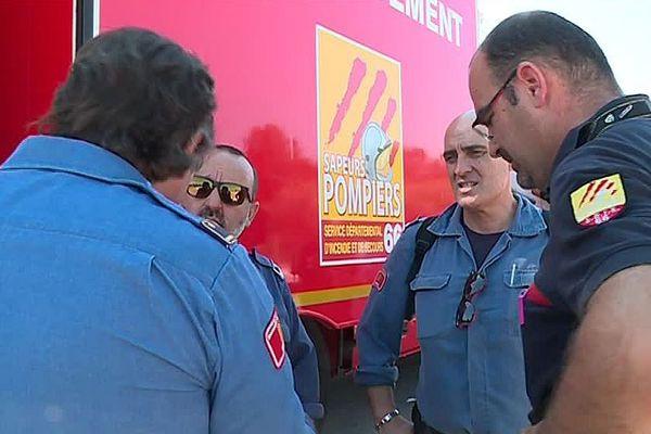 Perpignan - un accord de coopération a été signé entre pompiers catalans et bomberos de Catalogne - juin 2018.