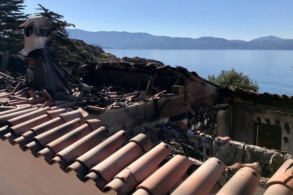 Une résidence secondaire, visée par un attentat, le 29 mars dernier à Sagone
