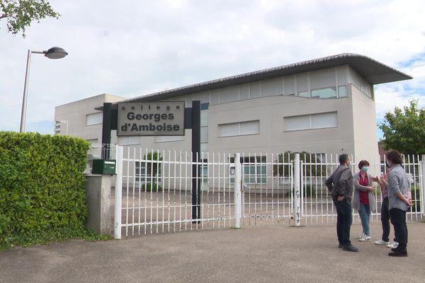 L'ensemble de l'équipe enseignante et éducative du collège Georges d'Ambroise à Gaillon a exercé ce droit de retrait vendredi 28 mai 2021.