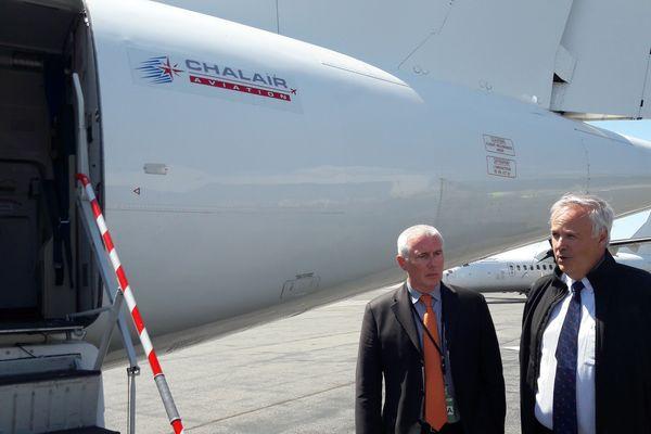 Alain Battisti (PDG de Chalair) à droite.