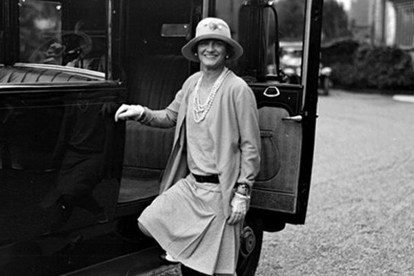 Coco Chanel en 1928 à Biarritz