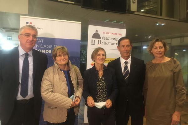 Les sénateurs de Gironde, manque l'élue EELV sur la photo