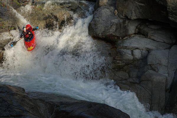 """Nouria Newman s'entraîne """"à la maison"""", entre Tignes et Val d'Isère en Savoie."""