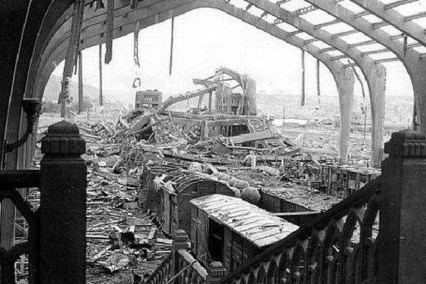 les dégâts au sein de la gare maritime