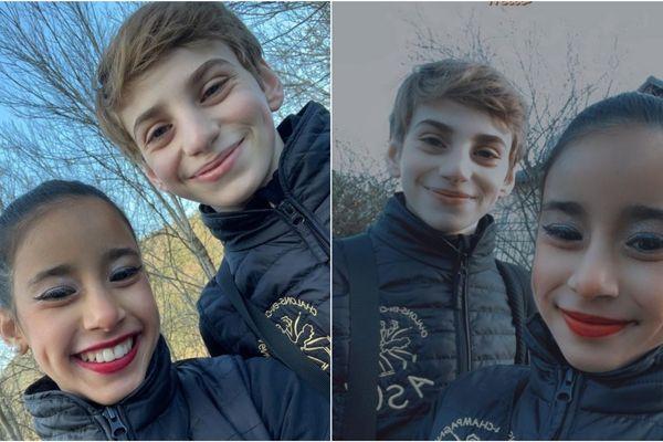 Dania et Theo, deux jeunes patineurs sur glace pleins d'avenir s'entraînent à Châlons en Champagne dans la Marne.