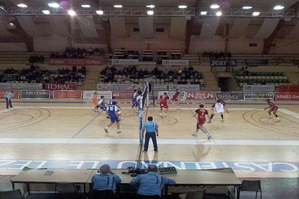 Montpellier - les volleyeurs du MAVUC contre Chaumont - 28 janvier 2014.