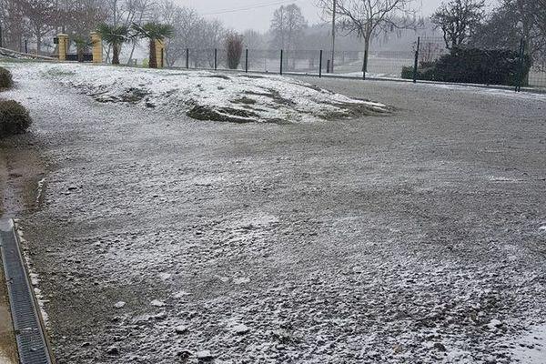 Neige à Saint-Jal en Corrèze le 22.01.2019