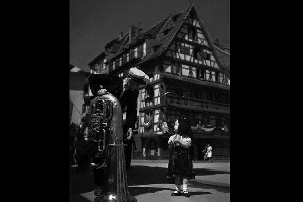 14 juillet 1945, place du marché-aux-cochons-de-lait à Strasbourg