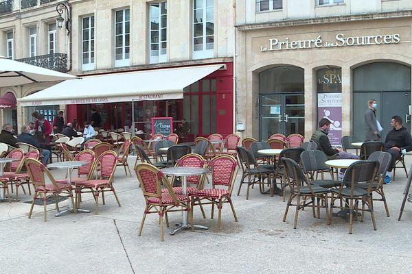 Des terrasses à Dijon.