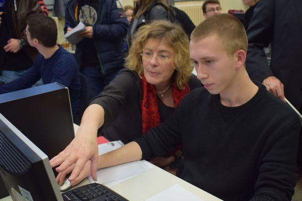 Florence Robine explique aux lycéens le fonctionnement de la plate-forme ''parcoursup'' /janvier 2018