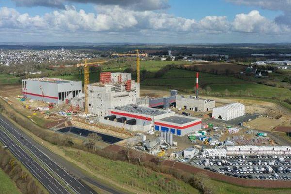 Vue aérienne de l'usine de poudre de lait