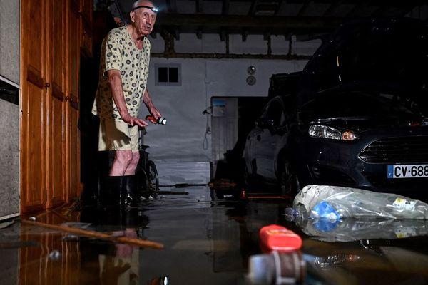 Dans le centre ville, le garage inondé de cet habitant d'Agen où l'eau est montée très rapidement mercredi soir 8 septembre