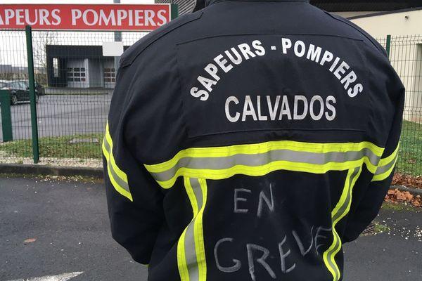 Les sapeurs pompiers du Calvados en grève