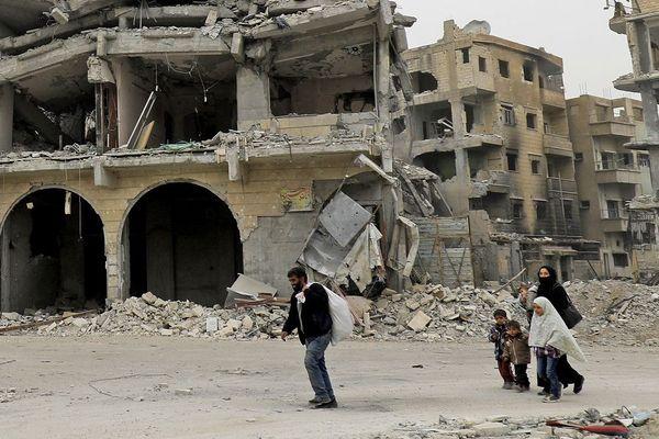 Une vue de Raqqa en Syrie