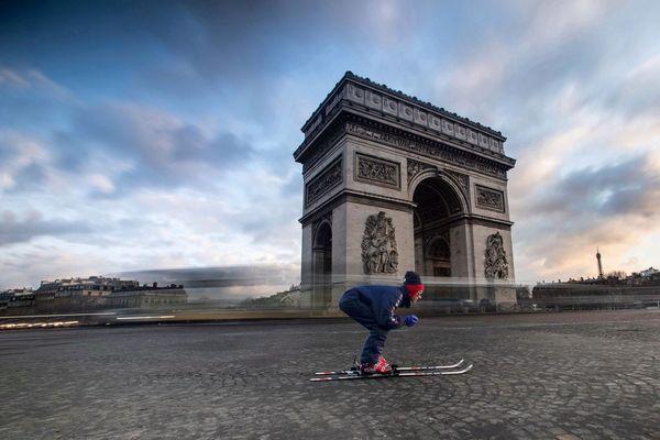 Grégory Trévisol était en manque de montagne, alors il est allé skier dans la capitale.