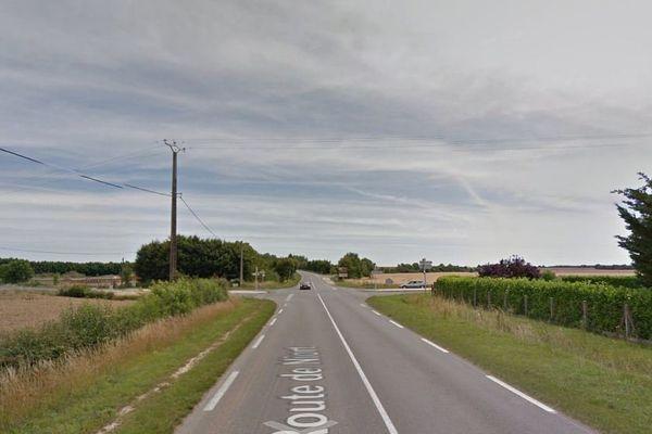 La D650 à proximité de Beauvoir-sur-Niort