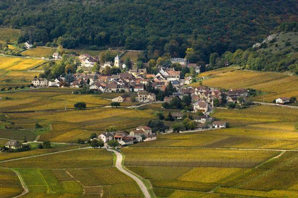 Le village Chambolle-Musigny, en Côte-d'Or