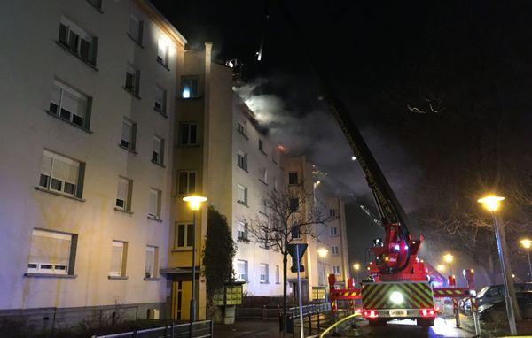 Il était 20h30 quand l'incendie s'est déclaré dans l'immeuble de la Cité Wagner