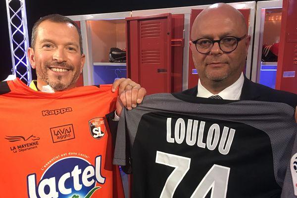 Philippe Jan, président du Stade Lavallois, au côté d'Anthony Brulez pour l'émission #USBFOOT
