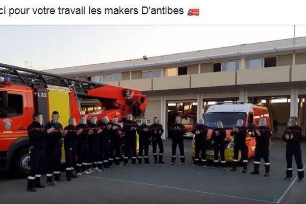 Les pompiers de la caserne D'Antibes disposent désormais de visières de protection.