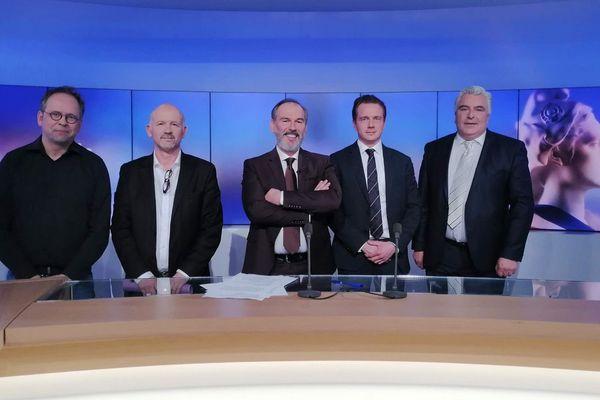Nicolas Magère, Denis Buhagiar, notre journaliste Vincent Dupire, Antoine Golliot et Frédéric Cuvillier