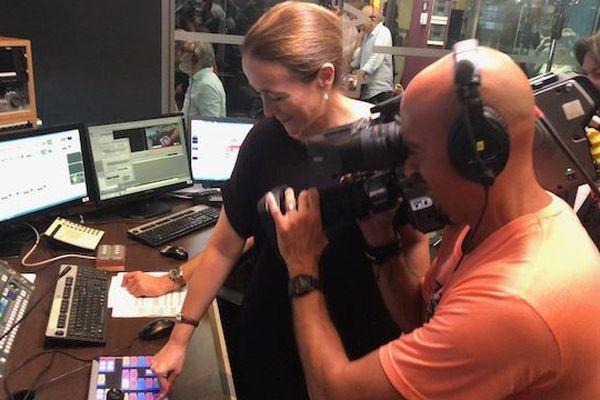 En régie, à France 3 : Delphine Ernotte, présidente de Francetélévisions lance la nouvelle chaîne .3NoA.